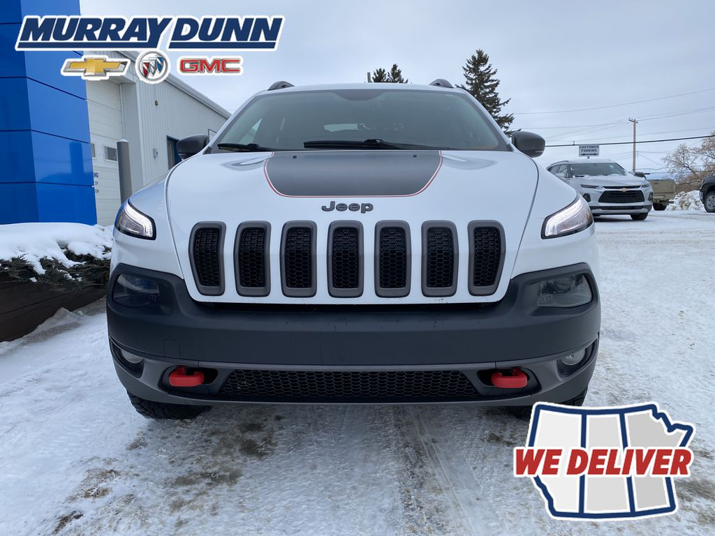 White[Bright White] 2016 Jeep Cherokee Front Vehicle Photo (Low) in Nipawin SK
