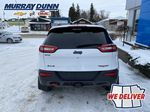 White[Bright White] 2016 Jeep Cherokee Rear of Vehicle Photo in Nipawin SK