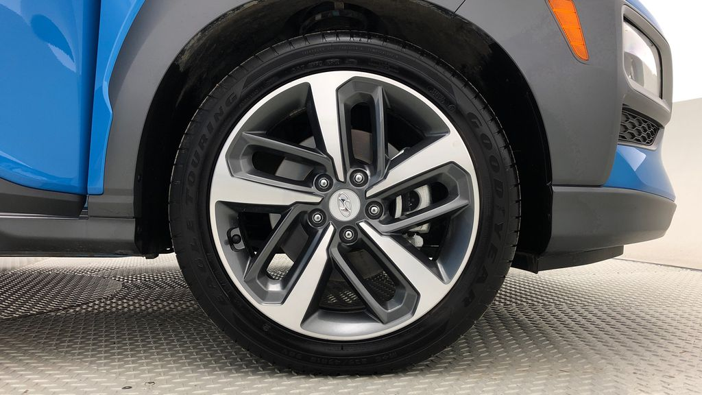 Blue[Blue Lagoon Mica] 2019 Hyundai Kona Ultimate AWD - Leather, Sunroof, Navigation Right Front Rim and Tire Photo in Winnipeg MB