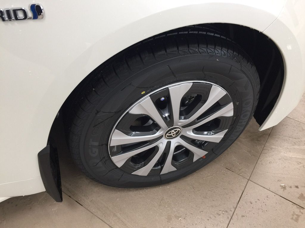 White 2021 Toyota Corolla Premium Hybrid Right Front Rim and Tire Photo in Sherwood Park AB