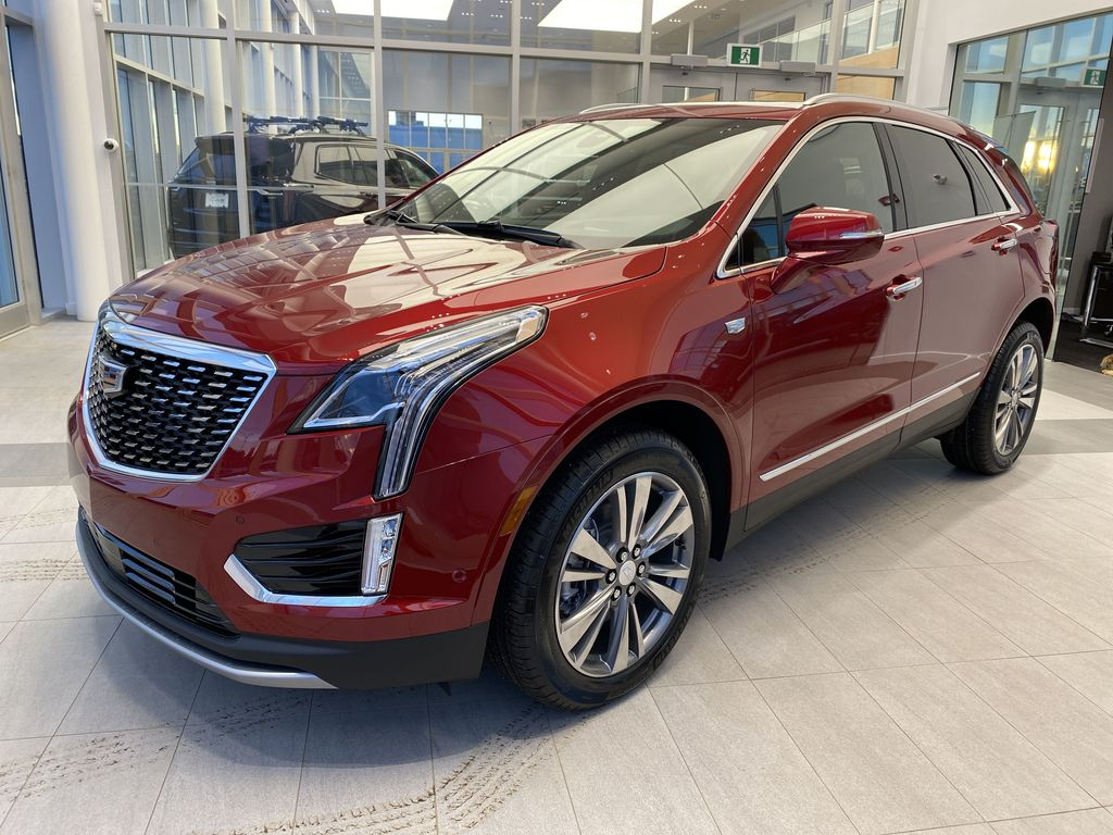 Red[Infrared Tintcoat] 2021 Cadillac XT5 Left Front Corner Photo in Edmonton AB