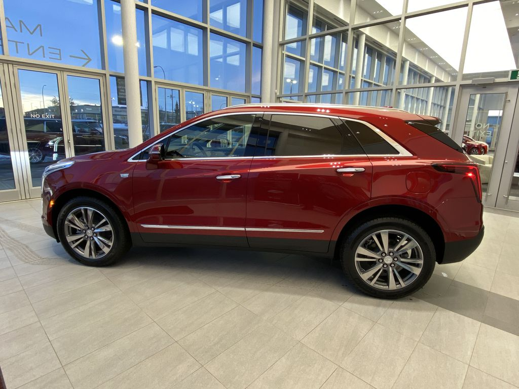 Red[Infrared Tintcoat] 2021 Cadillac XT5 Left Side Photo in Edmonton AB