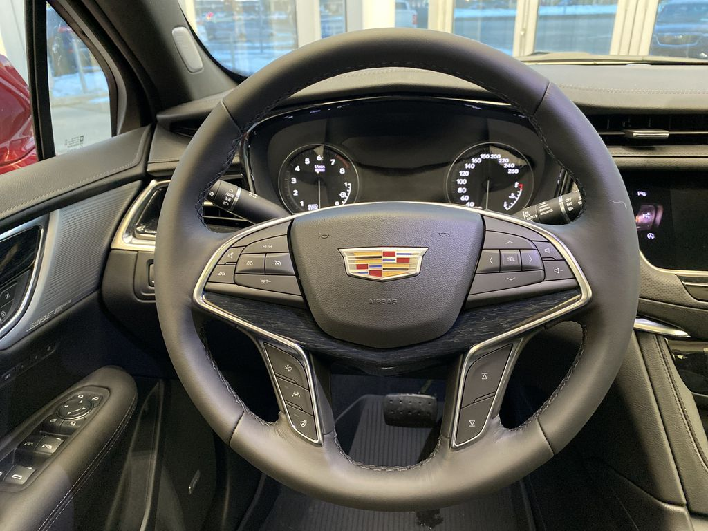 Red[Infrared Tintcoat] 2021 Cadillac XT5 Strng Wheel: Frm Rear in Edmonton AB