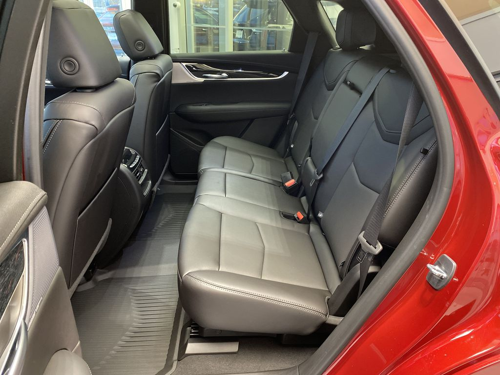Red[Infrared Tintcoat] 2021 Cadillac XT5 Left Side Rear Seat  Photo in Edmonton AB