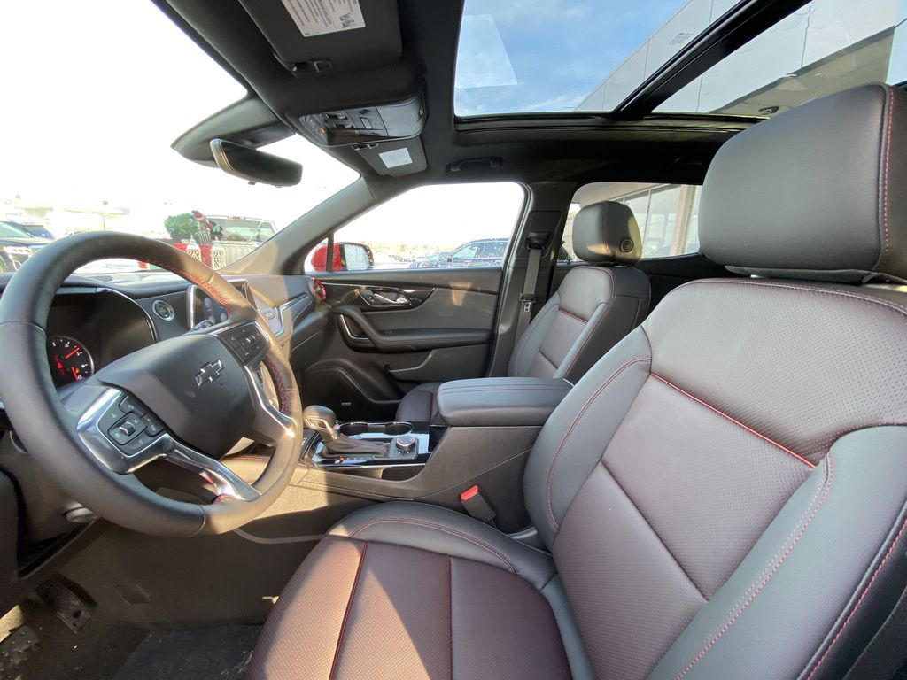 Red[Cherry Red Tintcoat] 2021 Chevrolet Blazer RS Left Front Interior Photo in Calgary AB