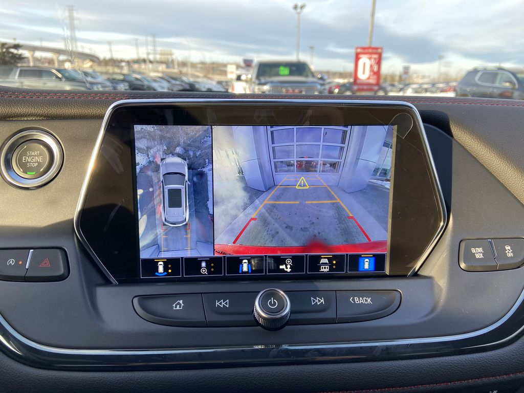 Red[Cherry Red Tintcoat] 2021 Chevrolet Blazer RS Backup Camera Closeup Photo in Calgary AB