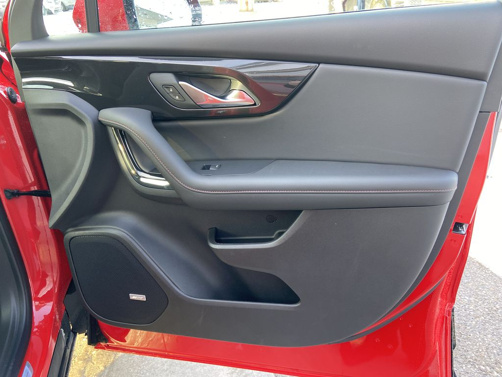 Red[Cherry Red Tintcoat] 2021 Chevrolet Blazer RS Right Front Interior Door Panel Photo in Calgary AB