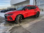 Red[Cherry Red Tintcoat] 2021 Chevrolet Blazer RS Left Front Corner Photo in Calgary AB