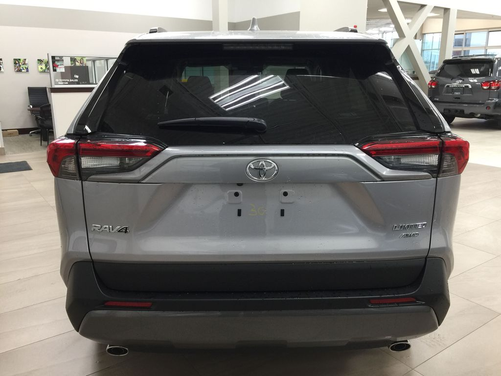 Silver[Silver Sky Metallic] 2021 Toyota RAV4 Limited Rear of Vehicle Photo in Sherwood Park AB