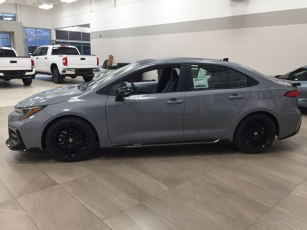 Gray[Cement Grey Metallic] 2021 Toyota Corolla Apex Edition Left Side Photo in Sherwood Park AB