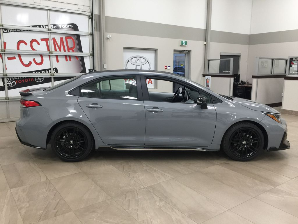 Gray[Cement Grey Metallic] 2021 Toyota Corolla Apex Edition Right Side Photo in Sherwood Park AB