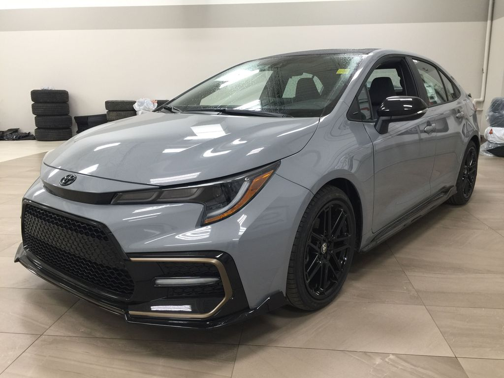 Gray[Cement Grey Metallic] 2021 Toyota Corolla Apex Edition Left Front Corner Photo in Sherwood Park AB