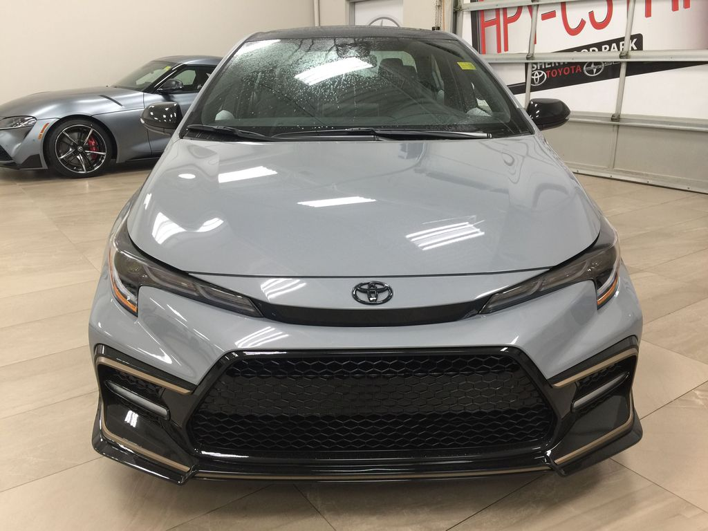 Gray[Cement Grey Metallic] 2021 Toyota Corolla Apex Edition Front Vehicle Photo in Sherwood Park AB