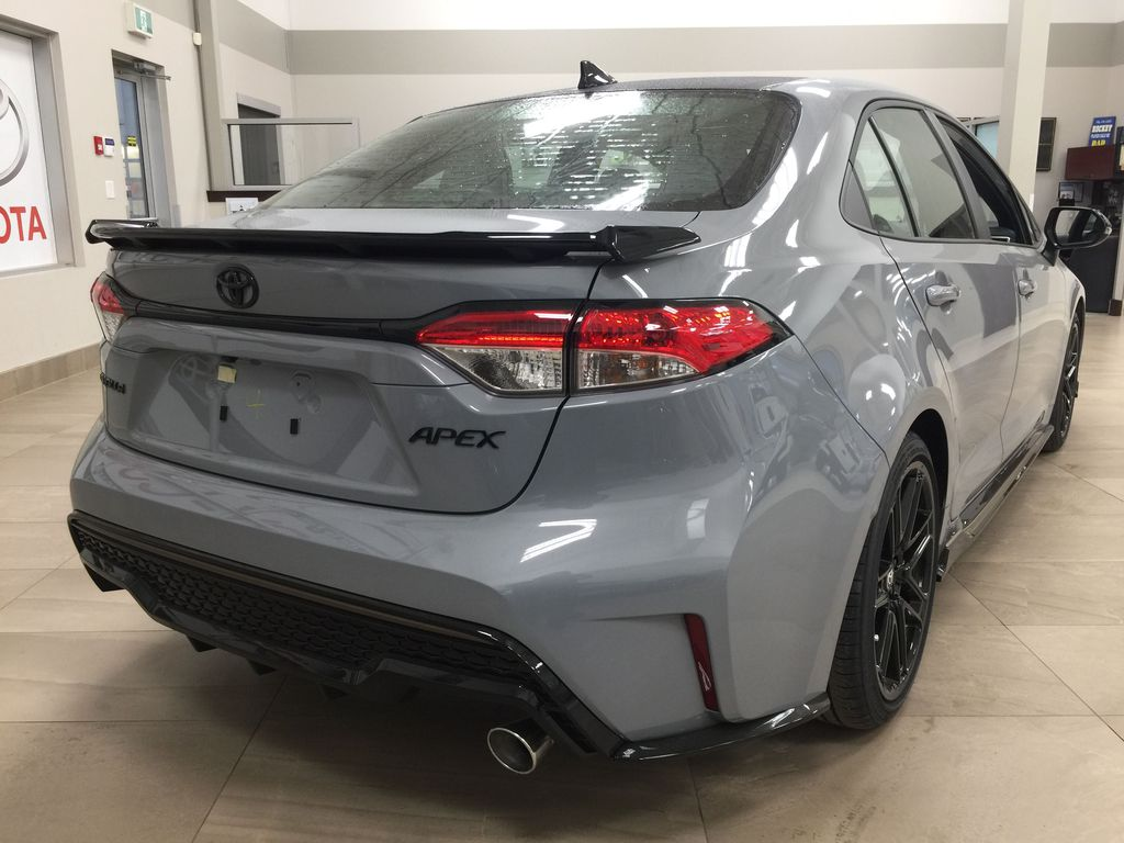 Gray[Cement Grey Metallic] 2021 Toyota Corolla Apex Edition Right Rear Corner Photo in Sherwood Park AB