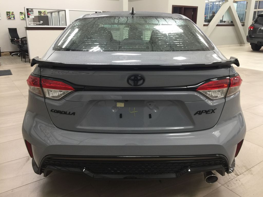 Gray[Cement Grey Metallic] 2021 Toyota Corolla Apex Edition Rear of Vehicle Photo in Sherwood Park AB
