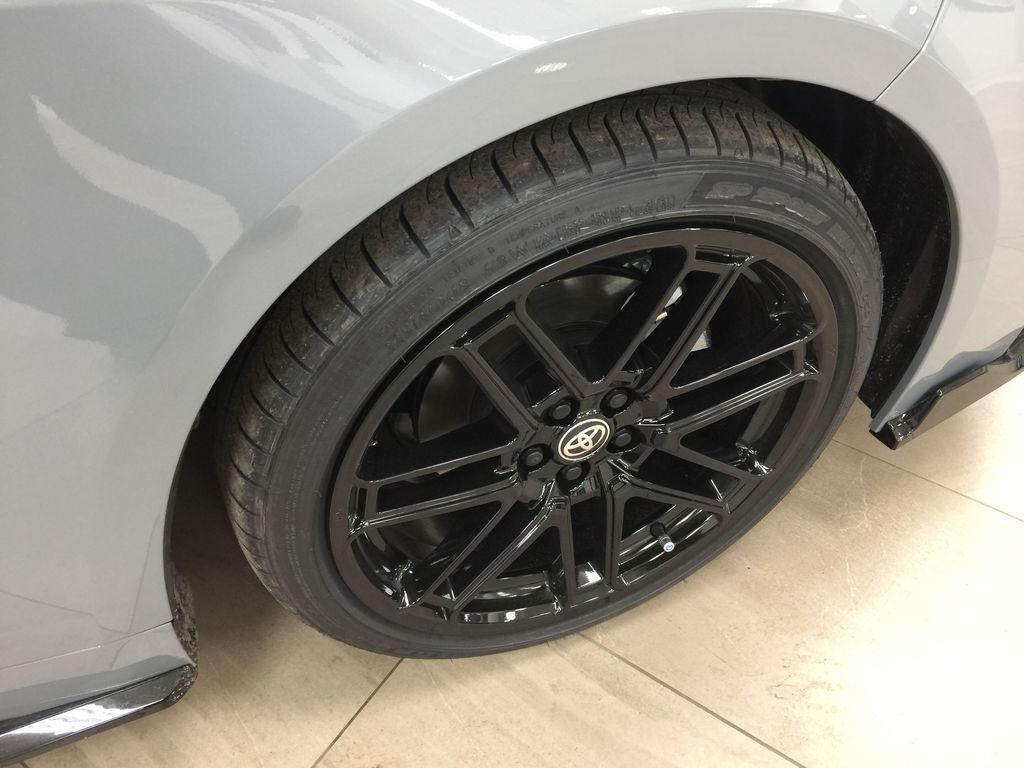 Gray[Cement Grey Metallic] 2021 Toyota Corolla Apex Edition Right Front Rim and Tire Photo in Sherwood Park AB