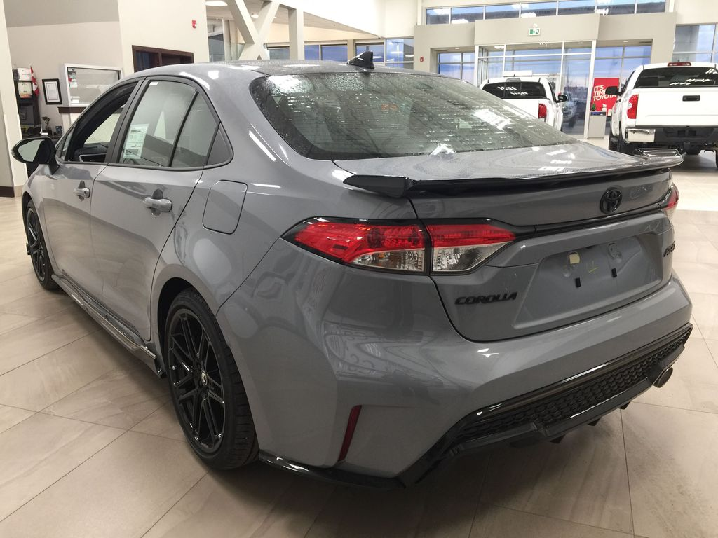 Gray[Cement Grey Metallic] 2021 Toyota Corolla Apex Edition Left Rear Corner Photo in Sherwood Park AB