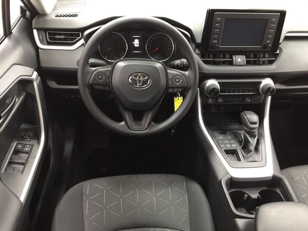 Silver[Silver Sky Metallic] 2021 Toyota RAV4 LE AWD Left Front Seat Photo in Sherwood Park AB