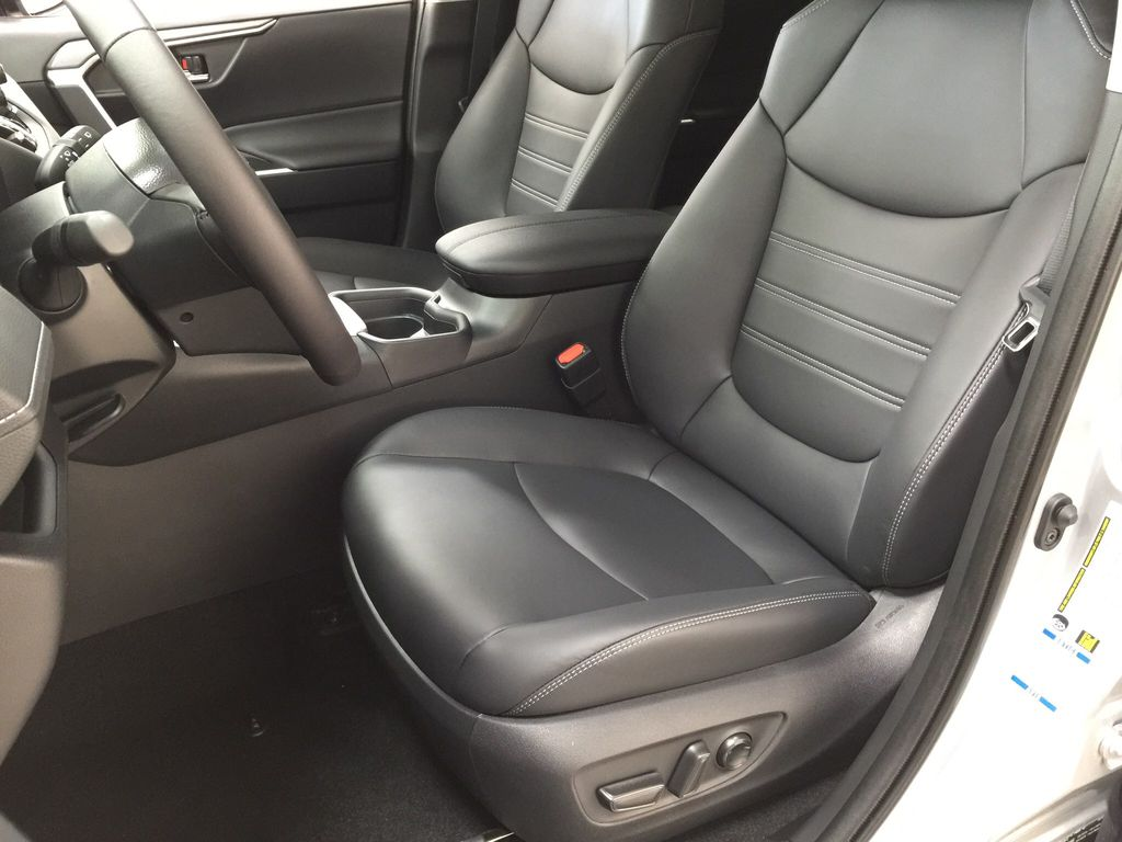 Silver[Silver Sky Metallic] 2021 Toyota RAV4 XLE Premium Left Front Interior Photo in Sherwood Park AB