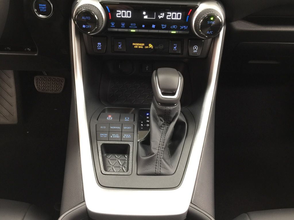 Silver[Silver Sky Metallic] 2021 Toyota RAV4 XLE Premium Lower Dash Photo in Sherwood Park AB