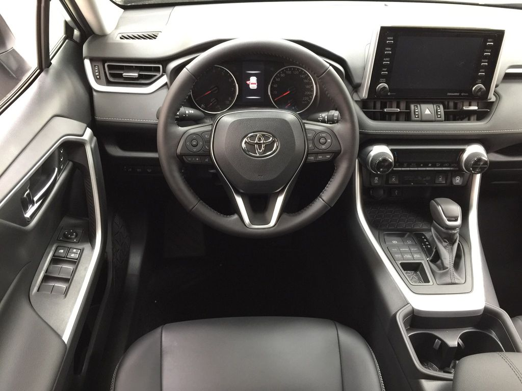 Silver[Silver Sky Metallic] 2021 Toyota RAV4 XLE Premium Left Front Seat Photo in Sherwood Park AB