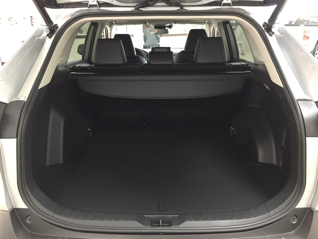Silver[Silver Sky Metallic] 2021 Toyota RAV4 XLE Premium Cargo Area/Rear Seats Photo in Sherwood Park AB