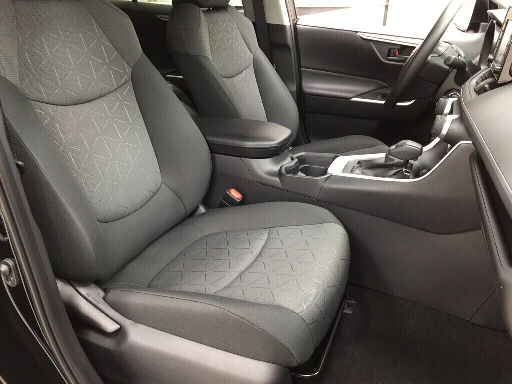 Black[Midnight Black Metallic] 2021 Toyota RAV4 LE AWD Right Side Front Seat  Photo in Sherwood Park AB