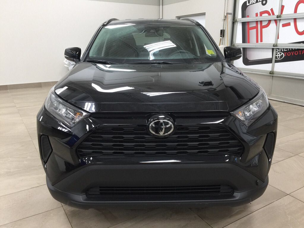 Black[Midnight Black Metallic] 2021 Toyota RAV4 LE AWD Front Vehicle Photo in Sherwood Park AB
