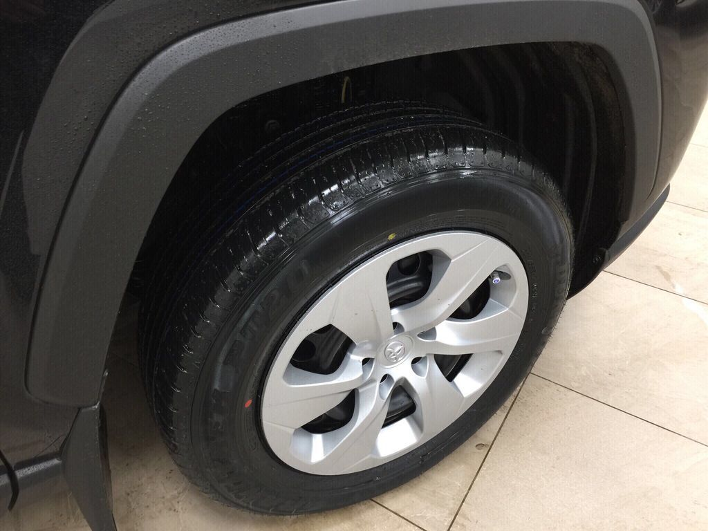 Black[Midnight Black Metallic] 2021 Toyota RAV4 LE AWD Right Front Rim and Tire Photo in Sherwood Park AB