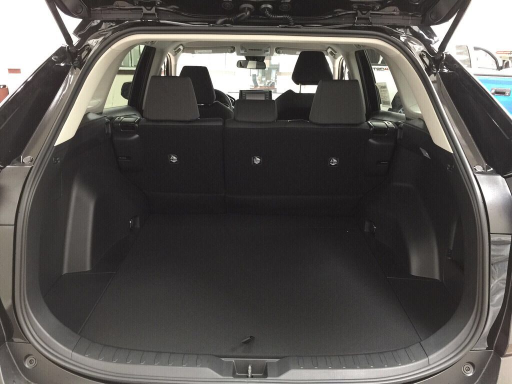 Black[Midnight Black Metallic] 2021 Toyota RAV4 LE AWD Cargo Area/Rear Seats Photo in Sherwood Park AB