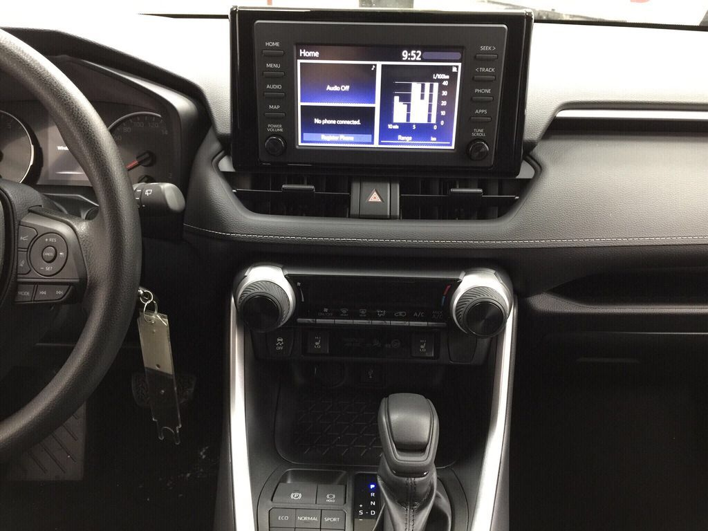 Black[Midnight Black Metallic] 2021 Toyota RAV4 LE AWD Central Dash Options Photo in Sherwood Park AB