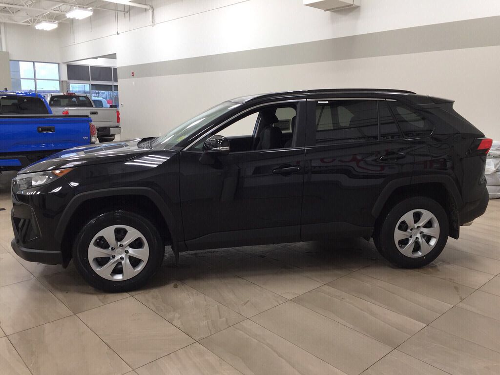 Black[Midnight Black Metallic] 2021 Toyota RAV4 LE AWD Left Side Photo in Sherwood Park AB