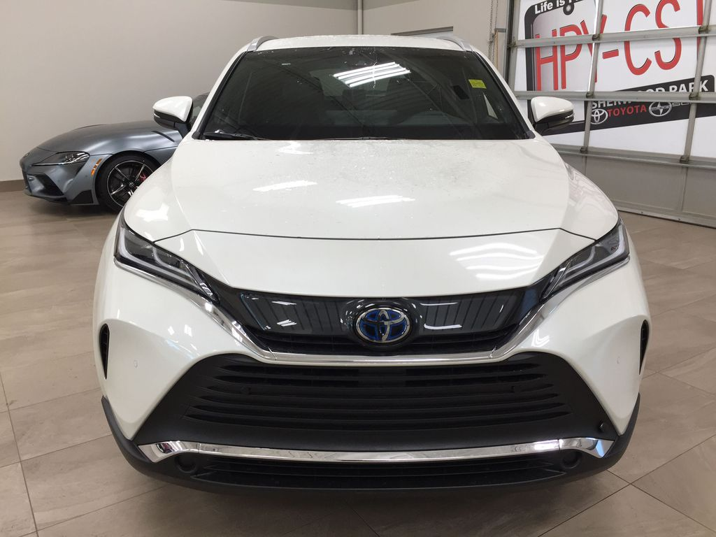 White[Blizzard Pearl] 2021 Toyota Venza XLE Hybrid Front Vehicle Photo in Sherwood Park AB