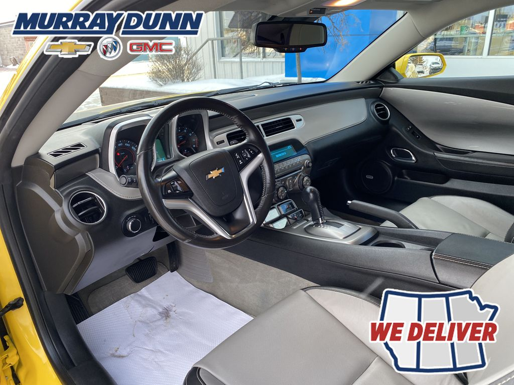 Yellow[Rally Yellow] 2012 Chevrolet Camaro LT Left Front Interior Photo in Nipawin SK