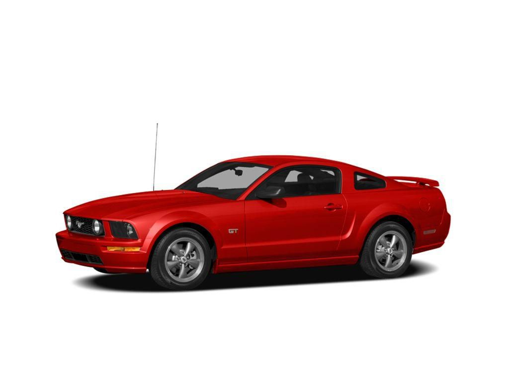 Red 2008 Ford Mustang Left Front Corner Photo in Brooks AB