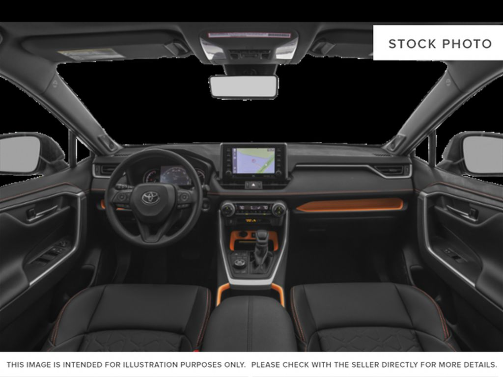 Gray[Lunar Rock w/Ice Edge Roof] 2021 Toyota RAV4 Front Seats and Dash Photo in Beverly Hills NU