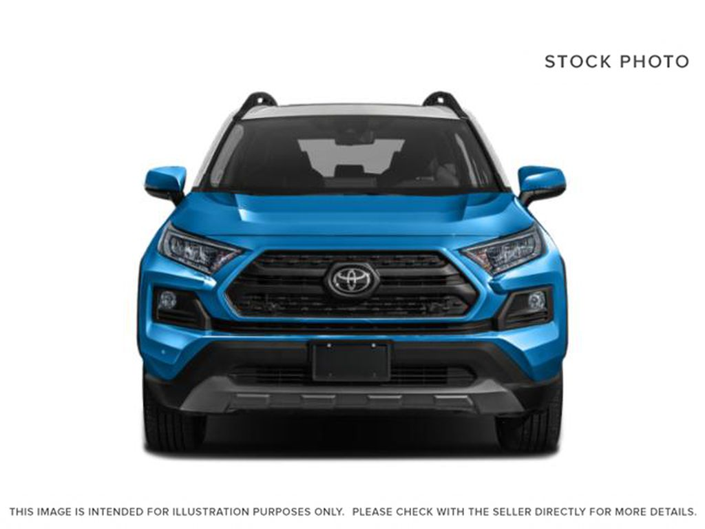 Gray[Lunar Rock w/Ice Edge Roof] 2021 Toyota RAV4 Front Vehicle Photo in Beverly Hills NU
