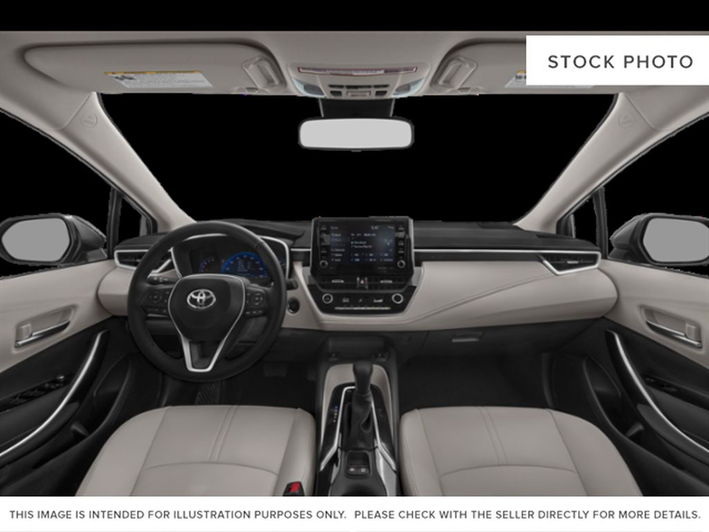 Red[Barcelona Red Metallic] 2021 Toyota Corolla Front Seats and Dash Photo in Beverly Hills NU