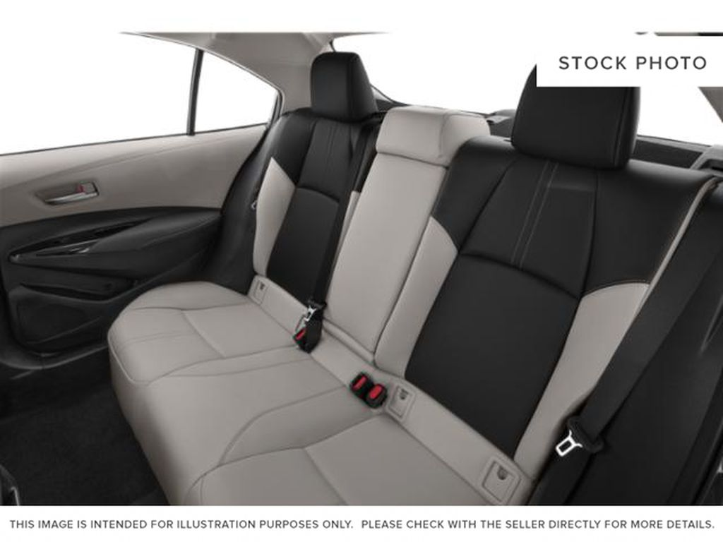 Red[Barcelona Red Metallic] 2021 Toyota Corolla Rear Seat Photo in Beverly Hills NU