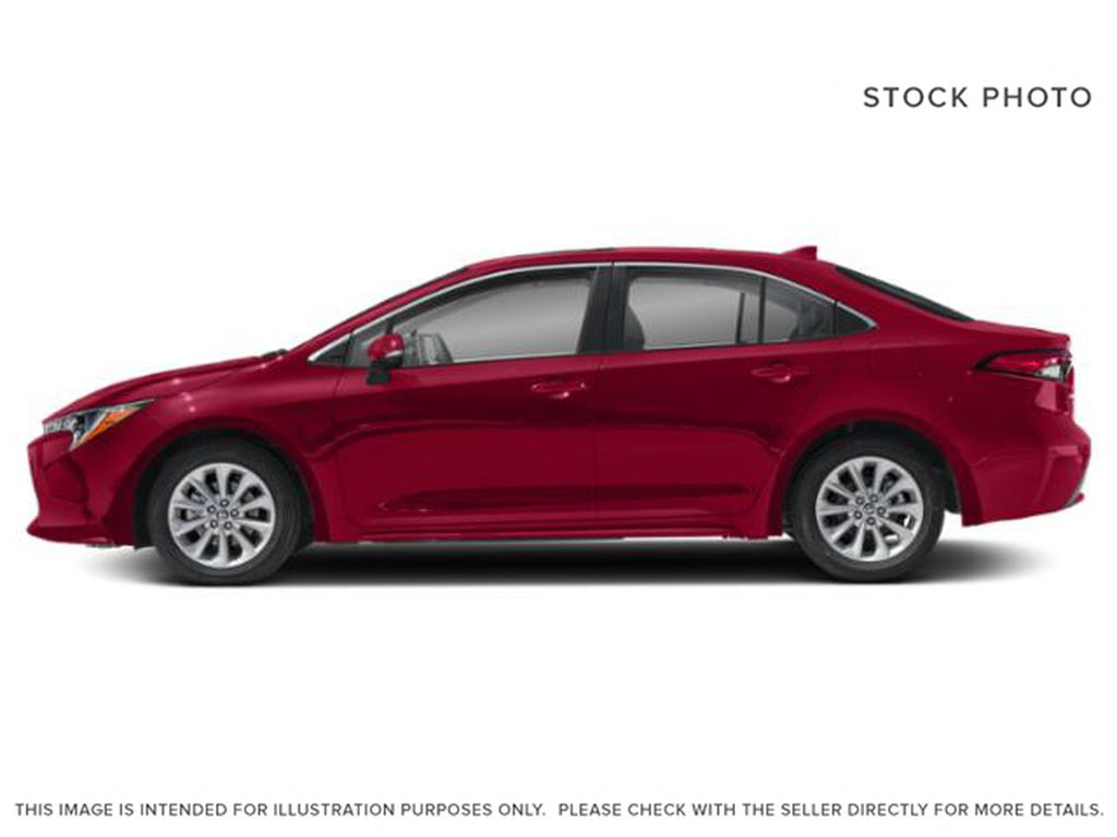Red[Barcelona Red Metallic] 2021 Toyota Corolla Left Side Photo in Beverly Hills NU