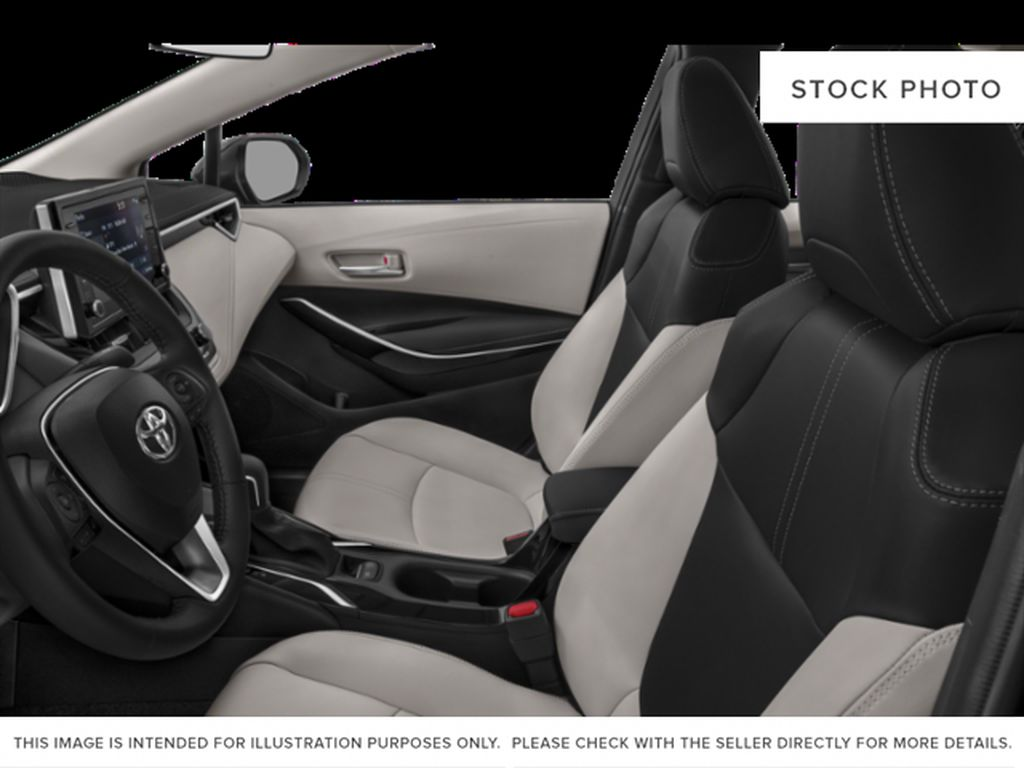 Red[Barcelona Red Metallic] 2021 Toyota Corolla Left Front Interior Photo in Beverly Hills NU