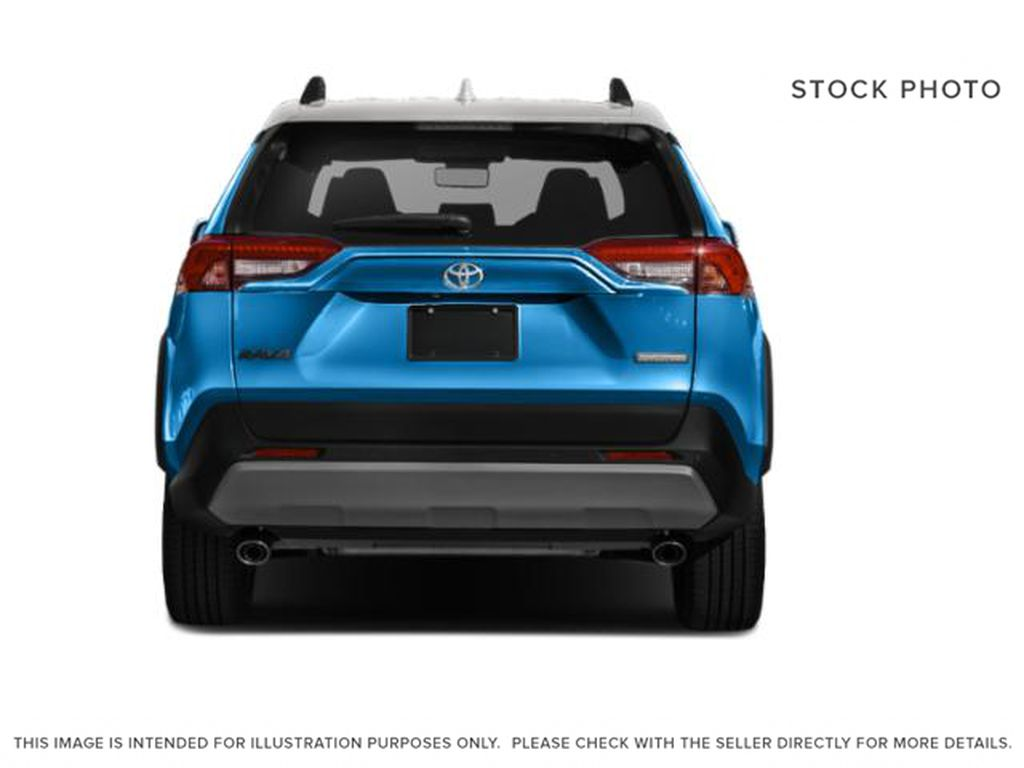 Blue[Blue Flame w/Ice Edge Roof] 2021 Toyota RAV4 Rear of Vehicle Photo in Beverly Hills NU