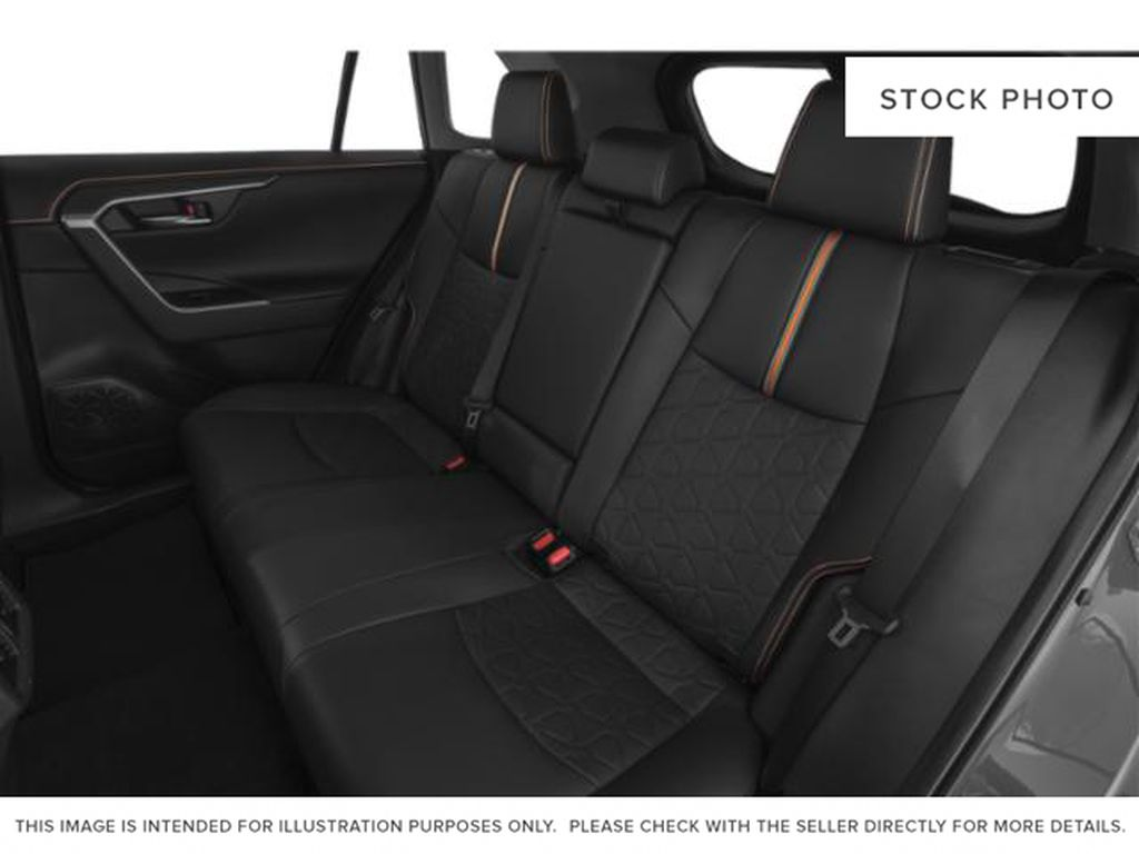 Blue[Blue Flame w/Ice Edge Roof] 2021 Toyota RAV4 Rear Seat Photo in Beverly Hills NU