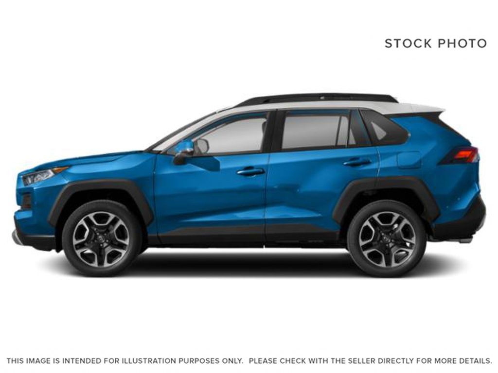 Blue[Blue Flame w/Ice Edge Roof] 2021 Toyota RAV4 Left Side Photo in Beverly Hills NU