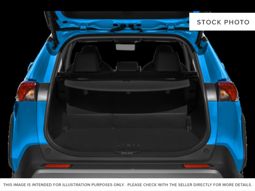Blue[Blue Flame w/Ice Edge Roof] 2021 Toyota RAV4 Trunk / Cargo Area Photo in Beverly Hills NU