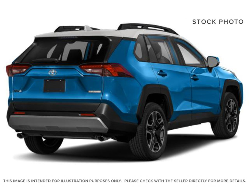 Blue[Blue Flame w/Ice Edge Roof] 2021 Toyota RAV4 Right Rear Corner Photo in Beverly Hills NU