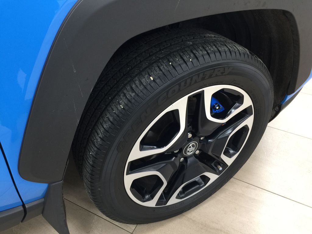 Blue[Blue Flame w/Ice Edge Roof] 2020 Toyota RAV4 Trail AWD Right Front Rim and Tire Photo in Sherwood Park AB