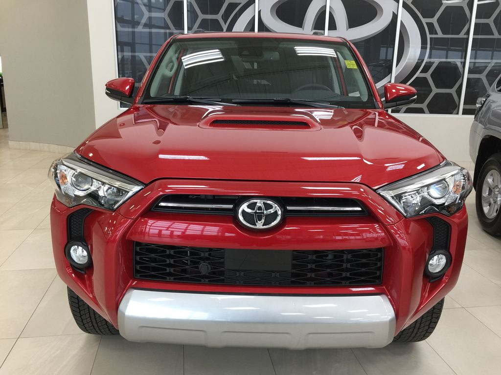 Red[Barcelona Red Metallic] 2021 Toyota 4Runner TRD Off-Road Front Vehicle Photo in Sherwood Park AB