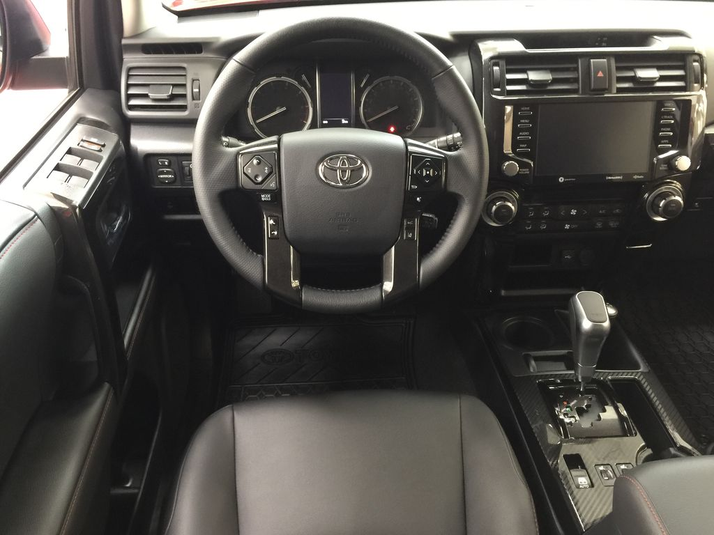 Red[Barcelona Red Metallic] 2021 Toyota 4Runner TRD Off-Road Left Front Seat Photo in Sherwood Park AB