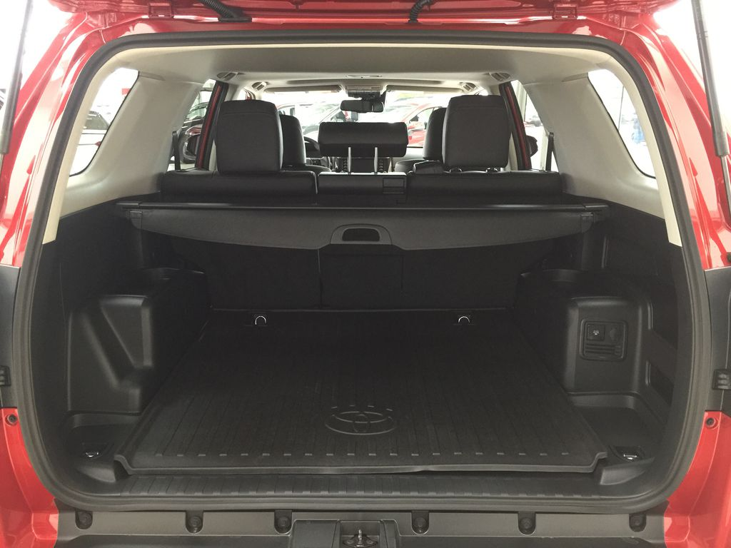 Red[Barcelona Red Metallic] 2021 Toyota 4Runner TRD Off-Road Cargo Area/Rear Seats Photo in Sherwood Park AB